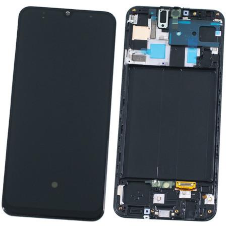 Модуль (дисплей + тачскрин) для Samsung Galaxy A50 (2019) SM-A505F с рамкой (ORIG)