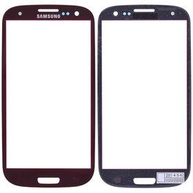 Стекло красный Samsung Galaxy S III (S3) GT-I9300