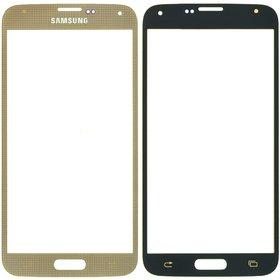 Стекло золотой Samsung Galaxy S5 (SM-G900FD)