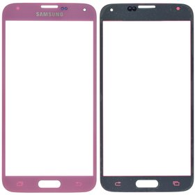 Стекло розовый Samsung Galaxy S5 (SM-G900FD)
