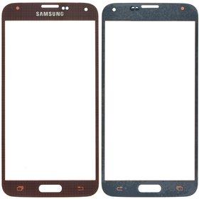Стекло коричневый Samsung Galaxy S5 SM-G900H