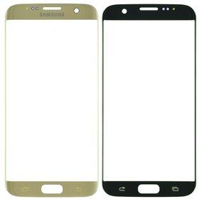 Стекло золотой Samsung Galaxy S7 edge (SM-G935FD)