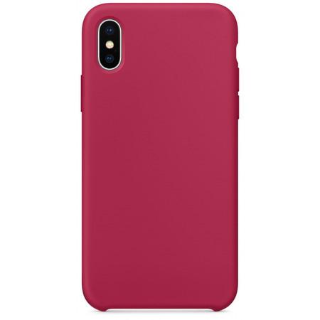 Чехол для Apple iPhone Xs Max Silicone Case малиновый