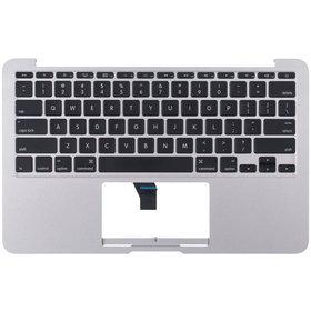 """Клавиатура для MacBook Air 11"""" A1370 (EMC 2393) 2010 черная (Топкейс серебристый)"""