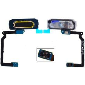 Шлейф / плата Samsung Galaxy S5 (SM-G900FD) / на кнопку HOME синий