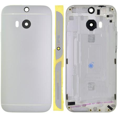Задняя крышка для HTC One M8 / серебристый