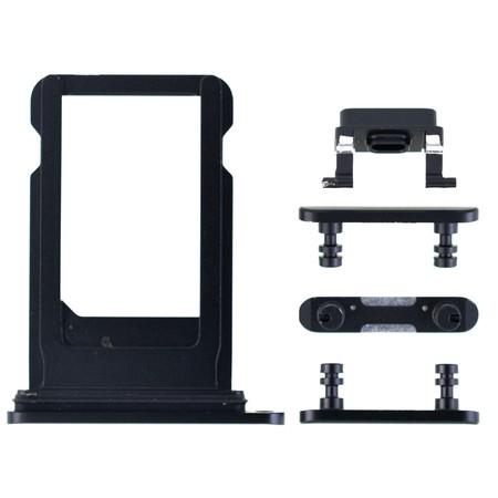 Задняя крышка + рамка для Apple iPhone 8 plus / черный корпус в сборе