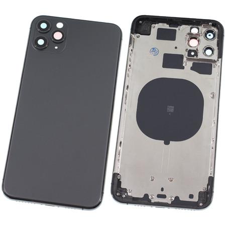 Задняя крышка + рамка для Apple iPhone 11 Pro Max / черный корпус в сборе