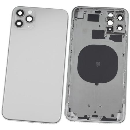Задняя крышка + рамка для Apple iPhone 11 Pro Max / серебристый корпус в сборе
