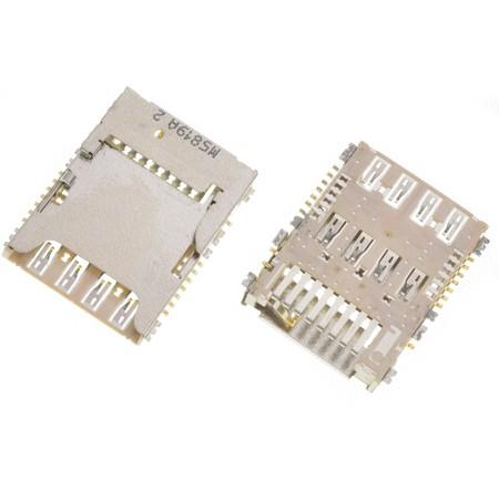 Разъем Micro-Sim+MicroSD для LG G3 Cat. 6