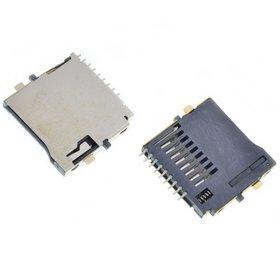 Разъем MicroSD 21-22mm x 14-15mm x 1,8mm KA-286