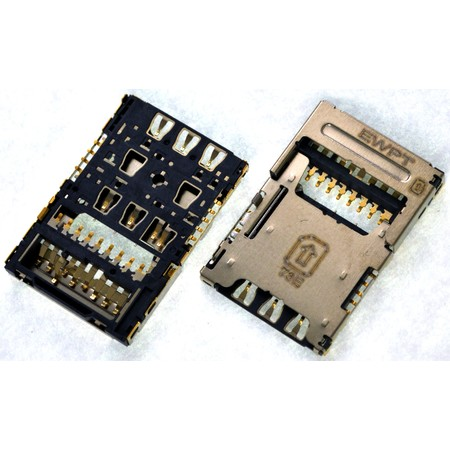 Разъем Nano-Sim+MicroSD для LG K8 LTE K350E