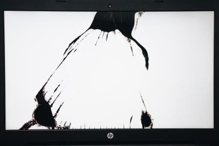 полосы на экране ноутбука нет изображения