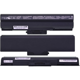 Аккумулятор / 11,1V / 3600mAh / 40Wh / 6 Cell черный Sony VAIO VGN-BZ