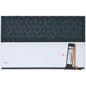 Клавиатура черная без рамки с подсветкой Asus N56VM