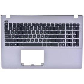 Клавиатура черная (Топкейс серебристый) ASUS R510JF