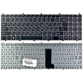 S-BJACKJI Клавиатура черная с голубой рамкой