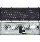 Клавиатура Clevo W765SUN черная с черной рамкой