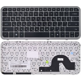 Клавиатура черная с серой рамкой HP Pavilion dm3-1110eo