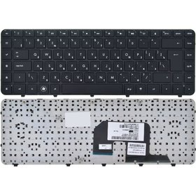 Клавиатура черная с черной рамкой HP Pavilion dv6-3301ek