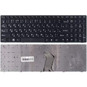 Клавиатура черная с черной рамкой Lenovo G560