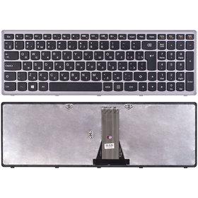 25-211025 Клавиатура черная с серой рамкой
