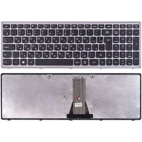 T6E1-RU Клавиатура черная с серой рамкой