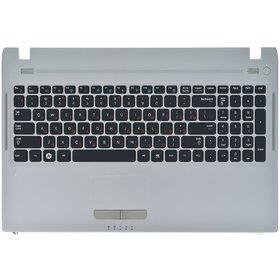 Клавиатура черная (Топкейс серебристый) Samsung Q530 (NP-Q530-JT01)