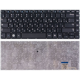 Клавиатура черная без рамки Samsung NP530U4C-S08