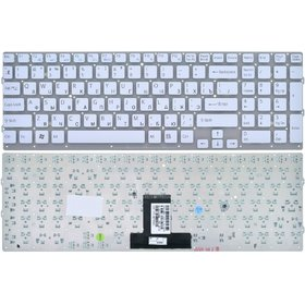 Клавиатура белая без рамки Sony VAIO VPCEB4Z1E/BQ