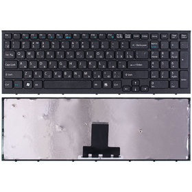 Клавиатура черная с черной рамкой Sony VAIO VPCEB4E1R/BQ