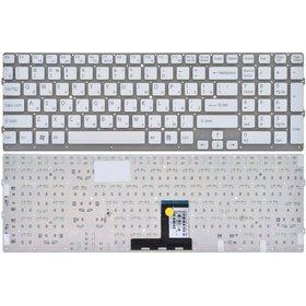 Клавиатура белая без рамки Sony VAIO VPCEC1M1E/WI (PCG-91112M)