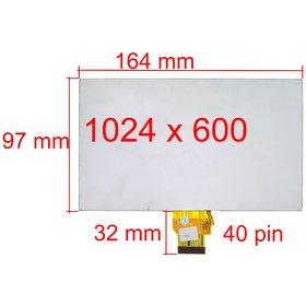"""Экран для планшета 7.0"""" (97х164мм) SANEI G705 3G"""