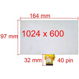 "Экран для планшета 7.0"" (97х164мм) Digma HT7070MG (HIT 3G)"