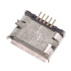 Разъем micro USB 5pin 2 ноги + 2 пластик. перед внутри на плату с краями контакты вниз (1 застежка) - U068