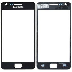 Стекло черный Samsung Galaxy S2 Plus GT-I9105