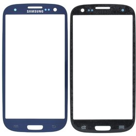 Стекло синий Samsung Galaxy S III (S3) GT-I9305 LTE