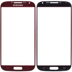Стекло Samsung Galaxy S4 GT-I9500 красный