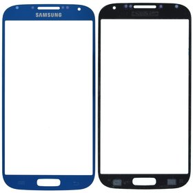 Стекло синий Samsung Galaxy S4 GT-I9500
