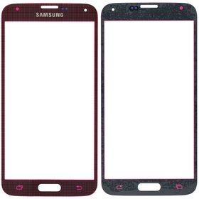 Стекло красный Samsung Galaxy S5 LTE-A SM-G901F