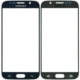 Стекло черный Samsung Galaxy S6 SM-G920