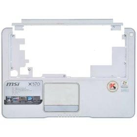 Верхняя часть корпуса ноутбука MSI X370 (MS-1356) / 351C123Y31B9081021 белый